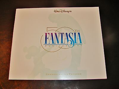 1990 FANTASIA 50th Anniversary Commemorative Program Walt Disney Large Color