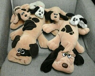 LOT OF 2 LARGE VINTAGE POUND PUPPIES AND 4 SMALL POUND PUPPIES