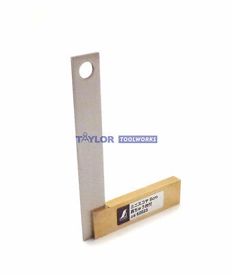 "Shinwa 3.50""  / 9 cm Solid Brass & Stainless Steel Machinist Square 62023"