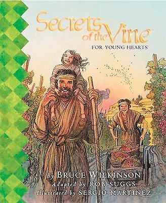 SECRETS OF THE VINE FOR YOUNG HEARTS 1ST/1ST BRUCE WILKINSON '02 HC FREE SHIPPNG