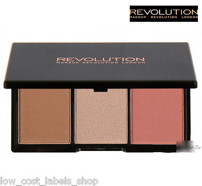 Makeup Revolution Face Blusher Bronzer Highlight  Brighten FLUSH