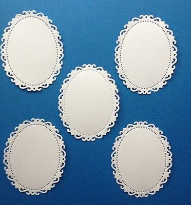 5 Fancy Oval Tags Frames Die Cuts. Scrapbooking And Cardmaking