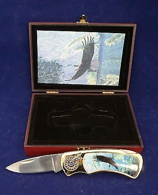 New Soaring Eagle Commemorative collector folding pocket knife