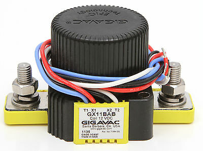 Gigavac GX11BAB Sealed DC and AC Contactor 12VDC 12 VDC Coil