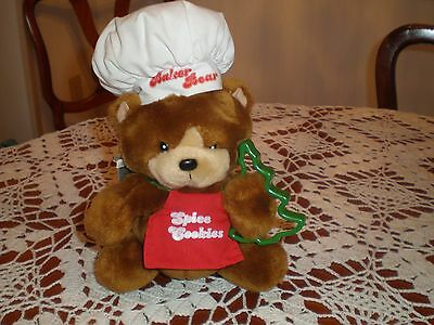 Vintage 1987 Emotions Stuffed Plush Baker Bear  New with tags NOS