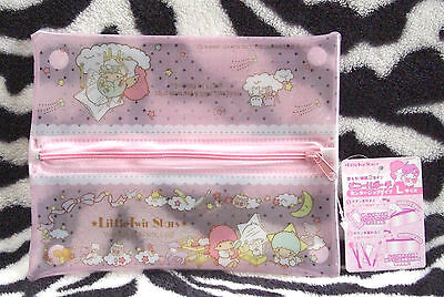 Little Twin Stars Sanrio Japan Vinyl pouch Cosmetic bag Stationery pouch case