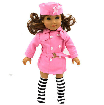 "2015 New  Doll Clothes fits 18"" American Girl Handmade Party Pink  Dress"
