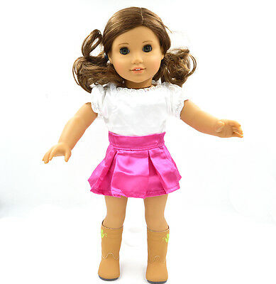 "2015 Doll Clothes fits 18"" American Girl Handmade White Party Dress"