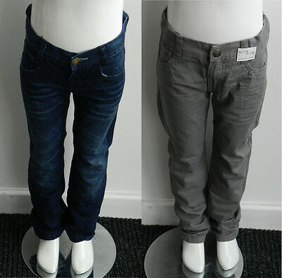 Boys Cotton Regular Blue Grey Denim Jeans Trousers Age 18M 2 3 4 5 6 7 8 - 16 Yr