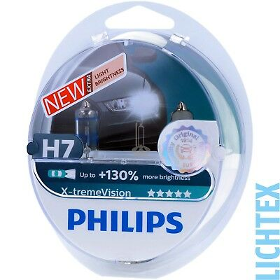 H7 PHILIPS X-tremeVision +130% - Scheinwerfer Lampe - DUO-Pack-Box NEU