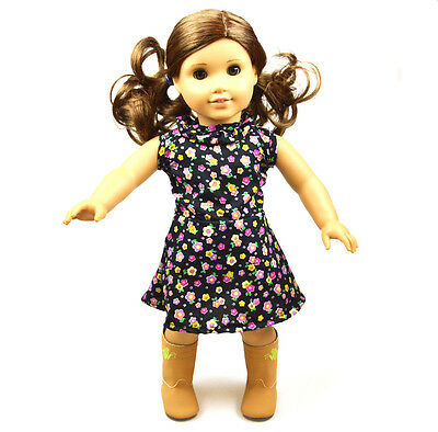 """The best Christmas Gift Popular 18"""" American girl doll Christmas Black  clothes"""