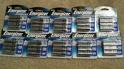 10 - 4 packs AA ENERGIZER ULTIMATE LITHIUM BATTERIES - Total 40 AA   Exp. 2/2033