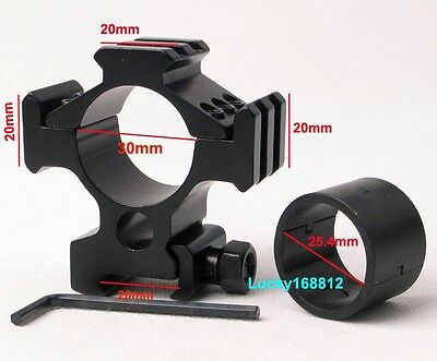 1'' 25.4mm/30mm Ring Tri-Rail Weaver Picatinny Rail  Mount For Rifle Scope Sight