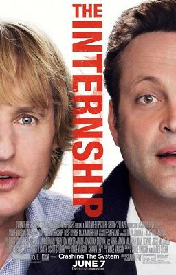 INTERNSHIP MOVIE POSTER 2 Sided ORIGINAL Ver C 27x40 OWEN WILSON VINCE VAUGHN