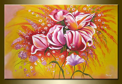 Yuhong Dancing in the wind hand painted floral oil painting bestbid_mall A448