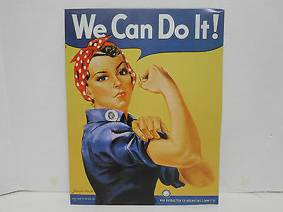 WATERMIND WAR PRODUCTION COMMITTEE TIN SIGN ROSIE THE RIVETER WE CAN DO IT DECOR