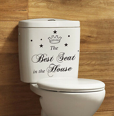 Cute Toilet Seat Quote The Best Seat Sticker Bathroom Decal Vinyl Art Wall Decor