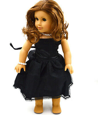 """Doll Clothes fits 18"""" American Girl Handmade black PartyDress american girl doll"""