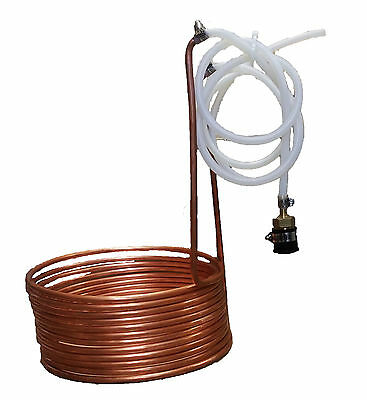 Economic 11 M Copper Wort Chiller/Heat Exchanger for All-Grain Brewing Mashing