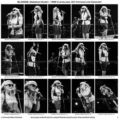 Deborah Harry Blondie Photos 4x6 inch Set of Prints 23 '99 Concert Cleveland OH