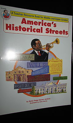 America's Historical Streets Jenkins teacher resource book middle upper gr 4-8