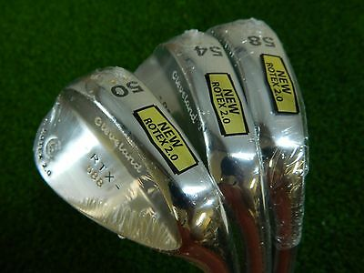 NEW CLEVELAND 588 RTX 2.0 TOUR SATIN WEDGE SET 50* AW 54* SW 58* LW WEDGES ROTEX