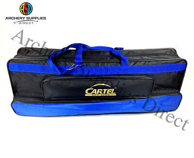 Cartel Archery Case Recurve Pro-Gold 701 Soft Case Take Down Bag Black & Blue