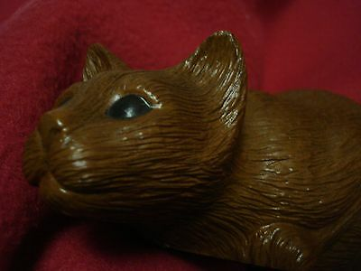 Handcrafted Cat Figure - Red Mill Mfg. Cat Figurine Handcrafted U.S.A. Sculpture