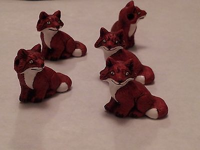 Peruvain Ceramic Sly Red Fox Focal Pendant Bead Single OR Lot of Five OR Ten