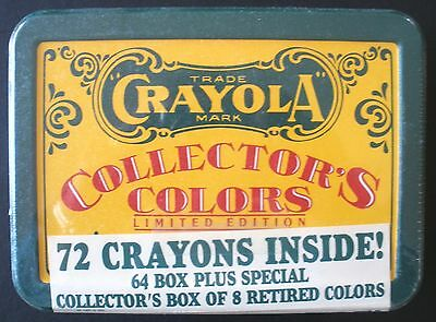 Crayola Collector's Colors Limited Edition 1991  72 Crayons in Tin    Unopened