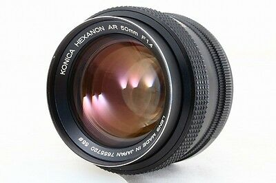 Konica Hexanon AR 50mm f/1.4 Lens  7655720 Very Good Condition Free Shipping
