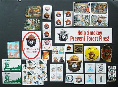 Smokey Bear and Woodsy Owl 53 Stickers and stamps