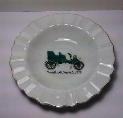 Vintage NAPCO China - Hand Painted Trinket Dish - Green Cadillac Car - # S967