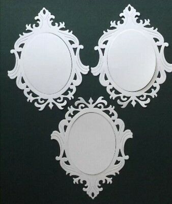 3 Ornate Frames Die Cuts For Scrapbooking And Cardmaking.
