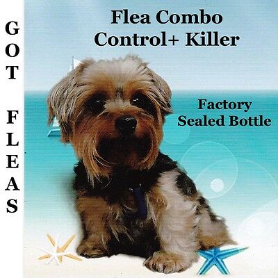 Flea Killer & Control Combo 6+6 for Dogs/Cats 2-15lb Factory Sealed 90mg+10mg