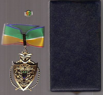 Order Medal GABON  Order of Merit cased Commander,  + lapel pin
