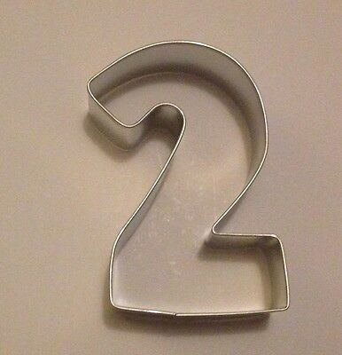 """3"""" Number Two (2) Cookie Cutter"""