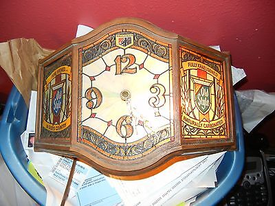 LIGHTED OLD STYLE BEER CLOCK SIGN GOOD CONDITION WORKS