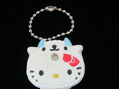 """Hello Kitty Vintage 2006 """"COW"""" Rubber Key Cap Cover Key Chain SANRIO NEW! LOOK!!"""