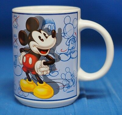 Mickey Mouse Artist Model Sheet Sketches Ceramic Mug Cup Disney Store