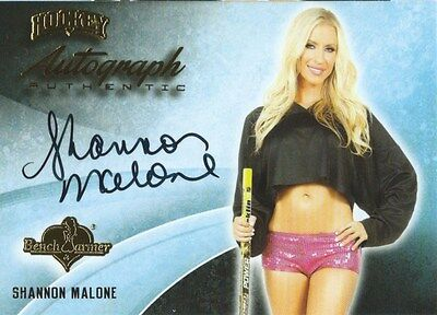 (HCW) 2014 Bench Warmer Signature Hockey SHANNON MALONE Autograph Authentic