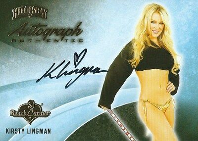 (HCW) 2014 Bench Warmer Signature Hockey KIRSTY LINGMAN Autograph Authentic