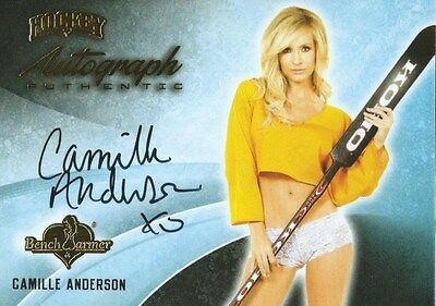 (HCW) 2014 Bench Warmer Signature Hockey CAMILLE ANDERSON Autograph Authentic