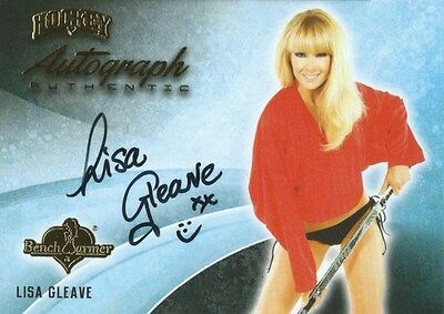 (HCW) 2014 Bench Warmer Signature Hockey LISA GLEAVE Autograph Authentic