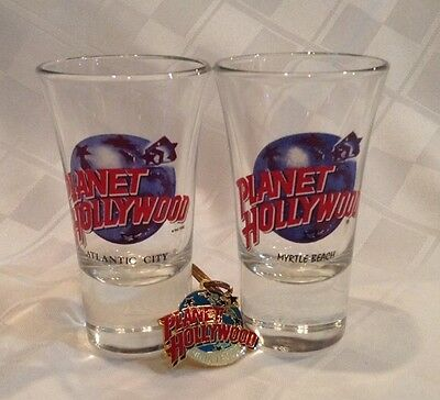 Planet Hollywood Shot glasses and key chain