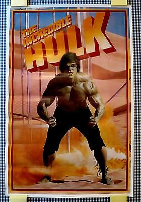 THE INCREDIBLE HULK LOU FERRIGNO SIGNED AUTOGRAPHED POSTER 23X35 THE AVENGERS!