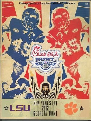 2012 Chick-Fil-A Bowl Program - LSU vs Clemson