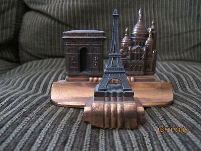 Art Deco Inkwell Paris-Eiffel Tower, Arc de Triomphe, Sacre Coeur