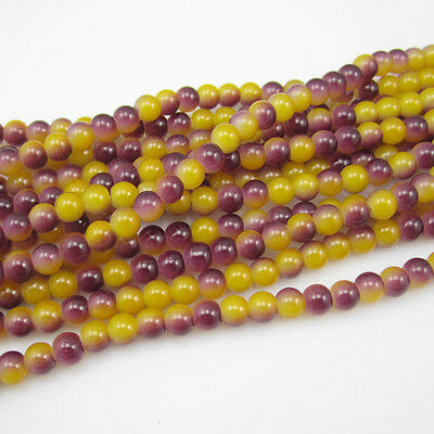 NEW 50 pcs 6mm Ball crystal Beads for Fit Bracelets Necklaces Charm mix colors L