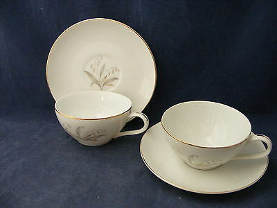 Kaysons Golden Rhapsody 2 Cup & Saucer Sets Mint Condition Circa 1961